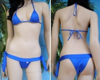 Bikini Gisela mini top a triangolo e mini slip banda lacci