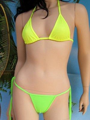 bikini Satinka giallo e verde