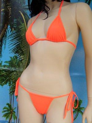 bikini Satinka tanga slip lacci + N5 reggiseno arancione