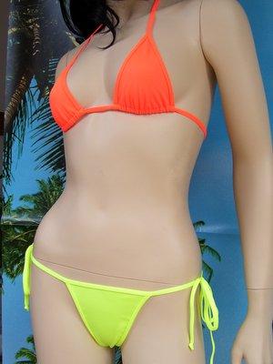 bikini Satinka arancione e giallo