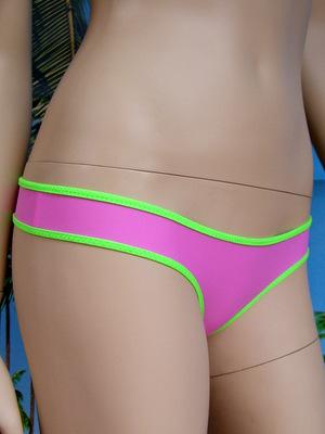 bikini slip rosa verde